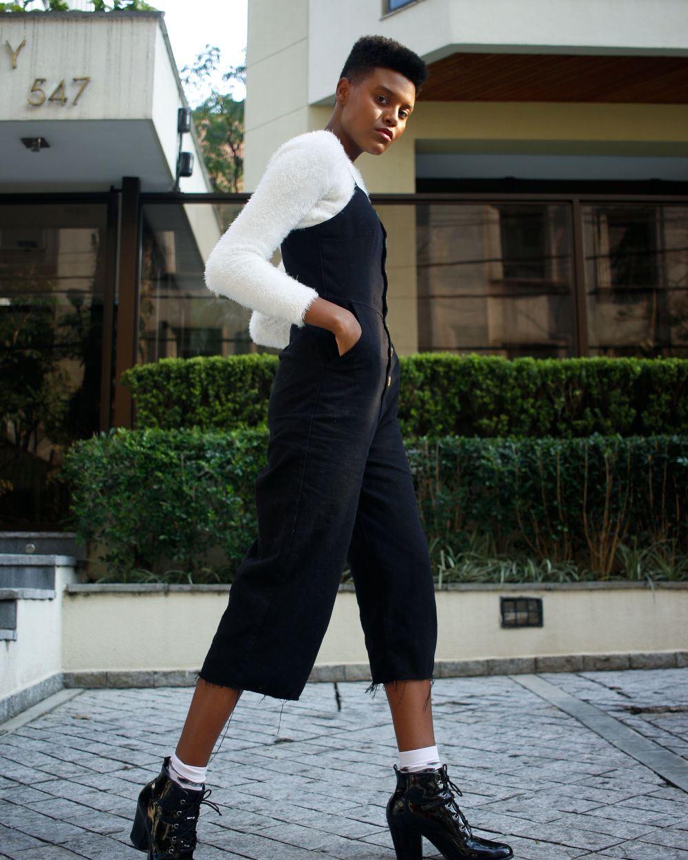 Fitted jumpsuit on model