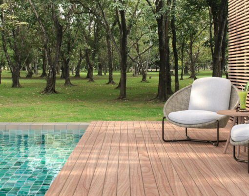 Swimming Pool Terrace With Garden View