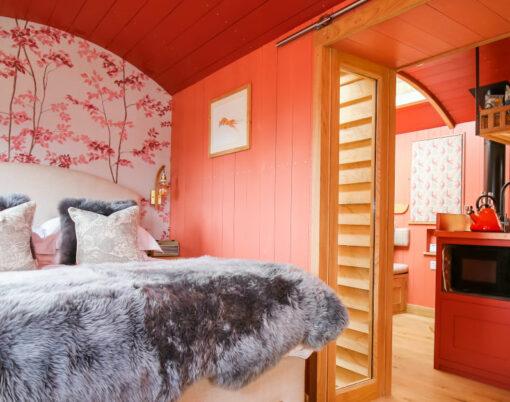 shepherd hut Lympstone Manor