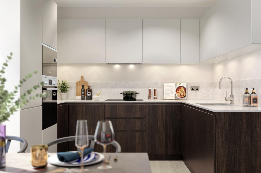 Apartment 2B4P TYPE 2 - Classic Option 01 Kitchen View 03