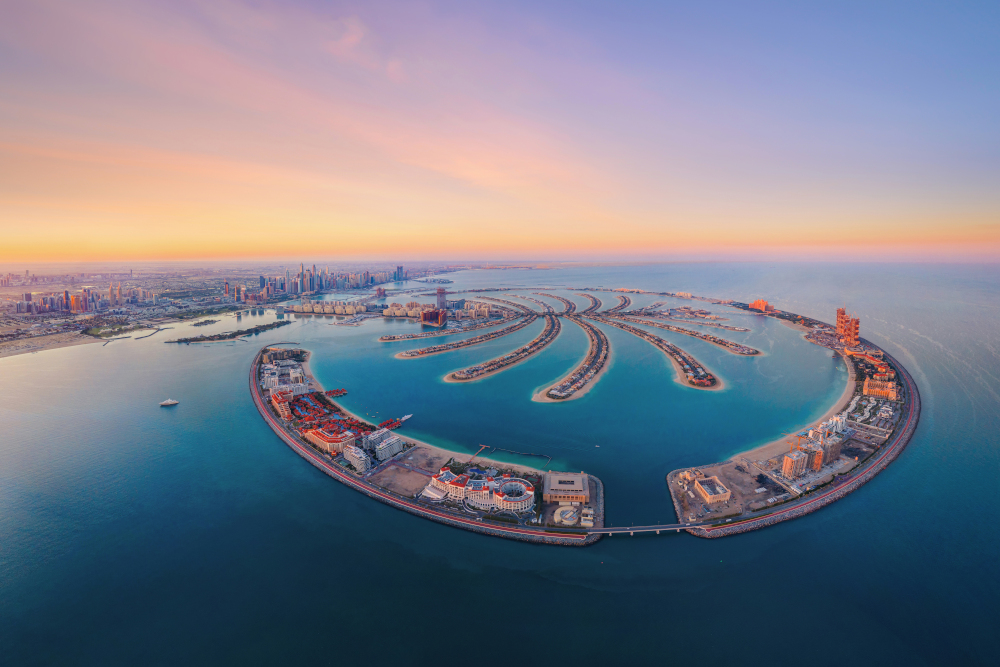 Aerial view of The Palm Jumeirah Island