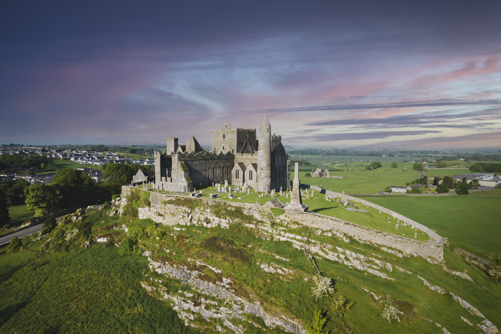 Aerial view of the Rock of Cashel