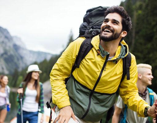 happy hiking friends