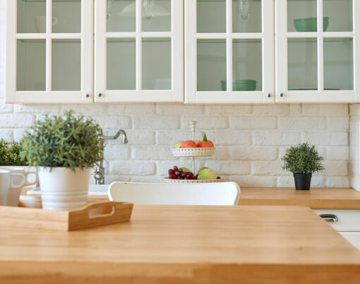 bigstock-Kitchen-Wooden-Table-Top-And-K-374125777