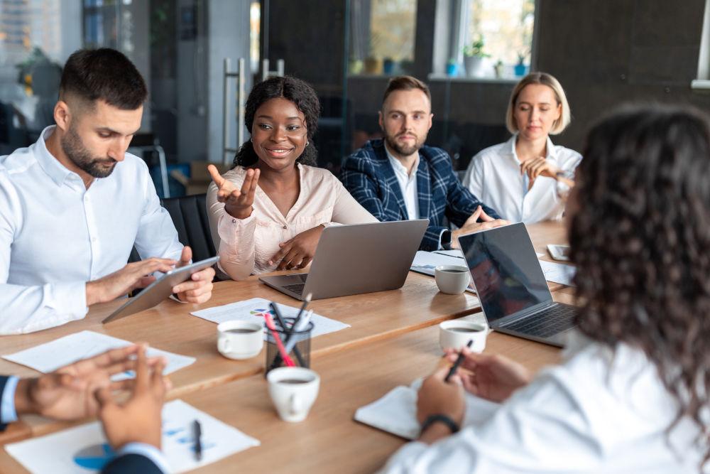 People Having Corporate Meeting Brainstorming