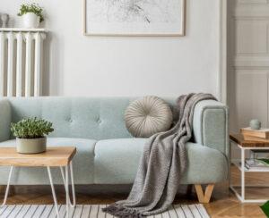 Stylish Scandinavian Living Room Interior Of Modern Apartment Wi