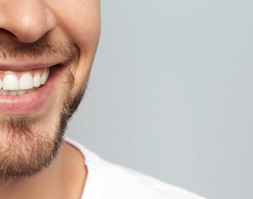 man white teeth smile