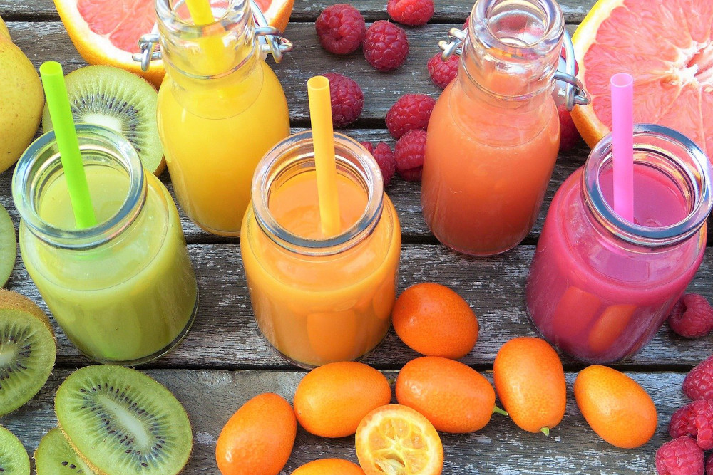 Colourful juices