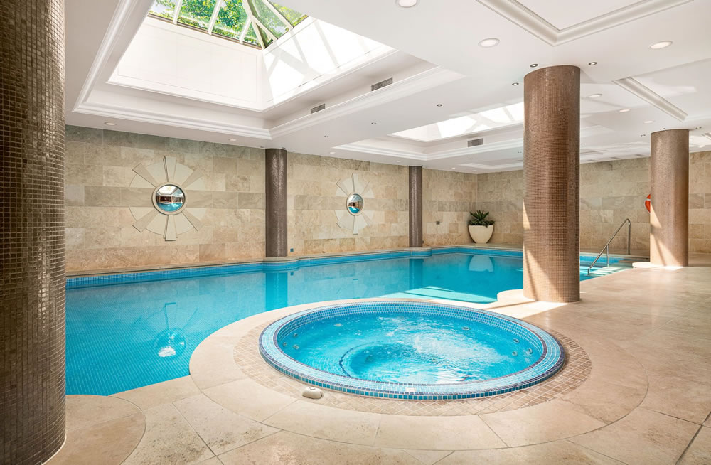25 metre indoor heated swimming pool at Charters Estate