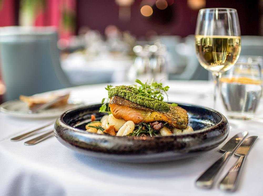 food at Queens Hotel, Cheltenham