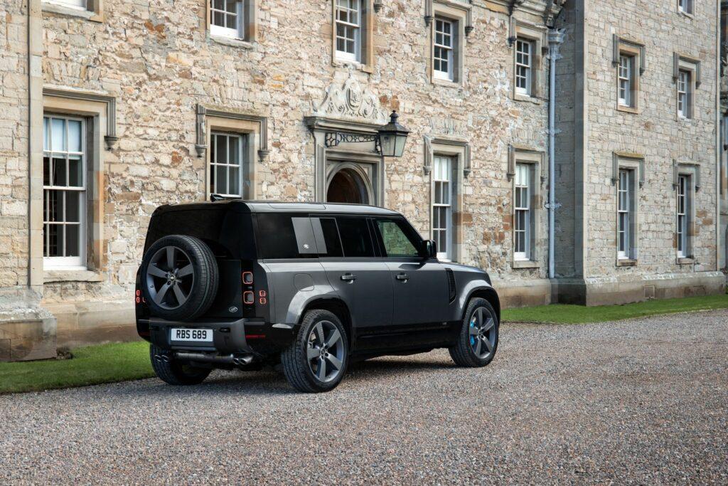 The Land Rover Defender V8
