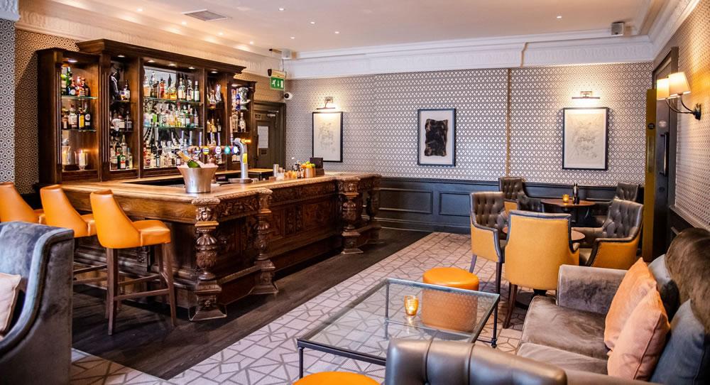 The bar at Queens Hotel, Cheltenham