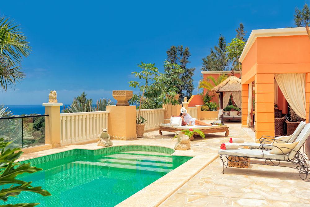 Villa Queen terraza piscina Royal Garden Villas Costa Adeje