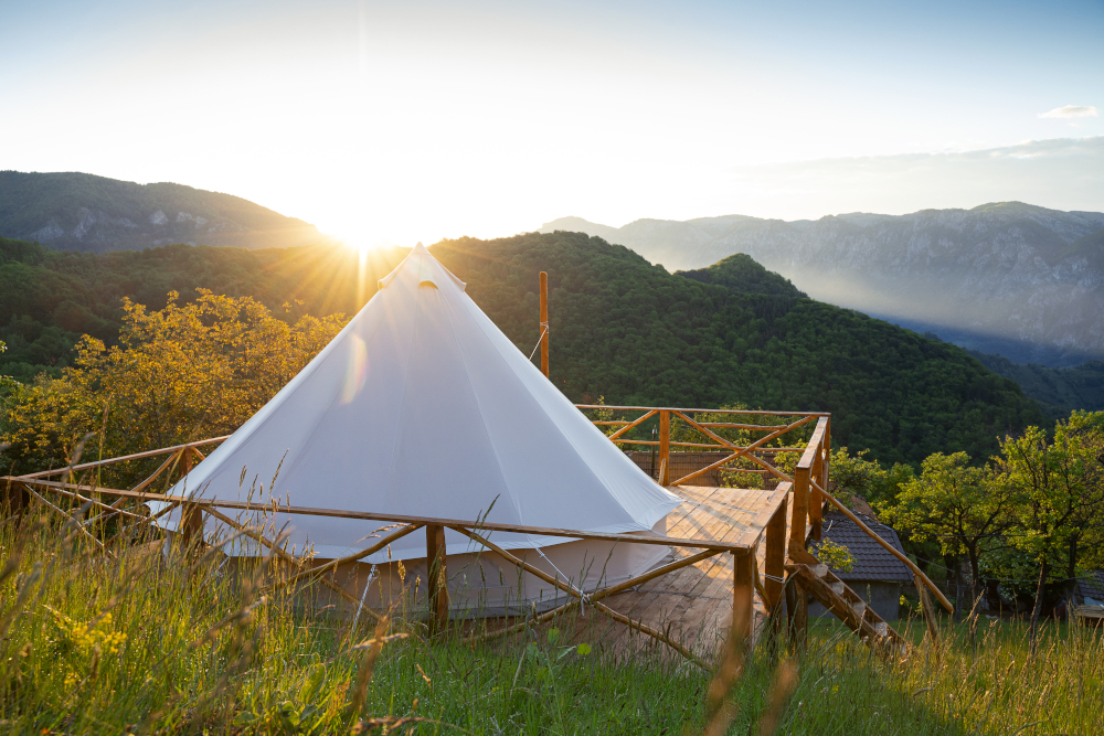 glamping house tent
