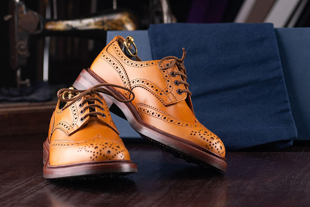 The brown lace-up shoe