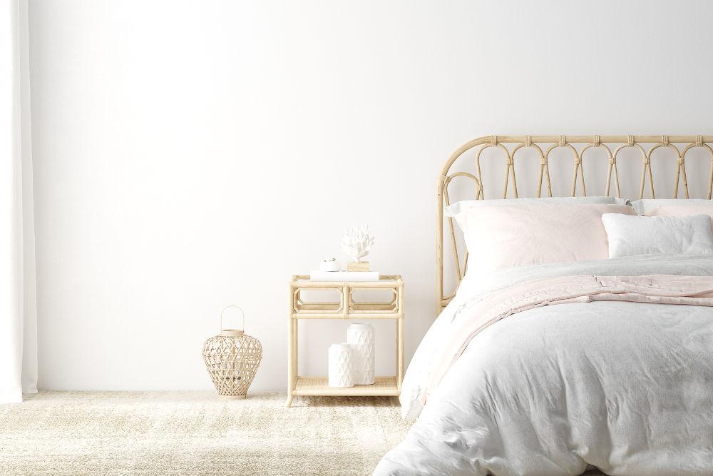 Coastal boho style bedroom