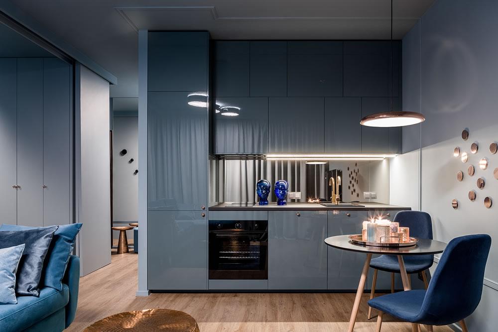 dark kitchen interior