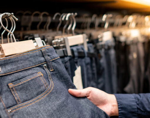 Jeans in a shop