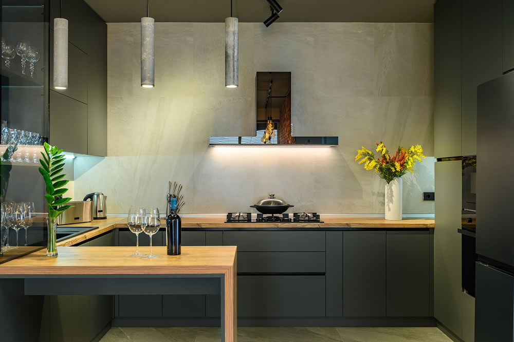 compact luxury kitchen