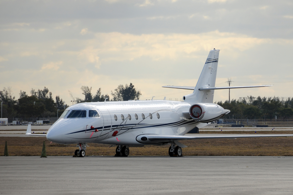 Small jet airplane for private and business charters