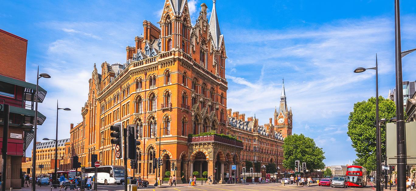 St. Pancras Renaissance hotel in London, uk