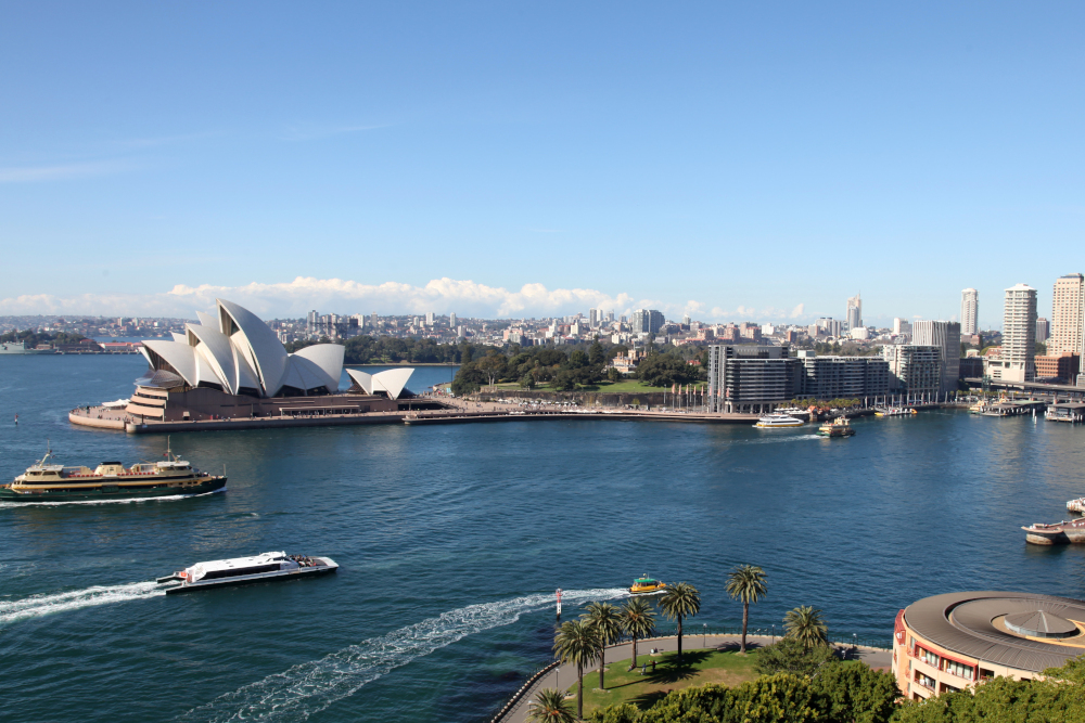 View from the Harbour Bridge in Sydney