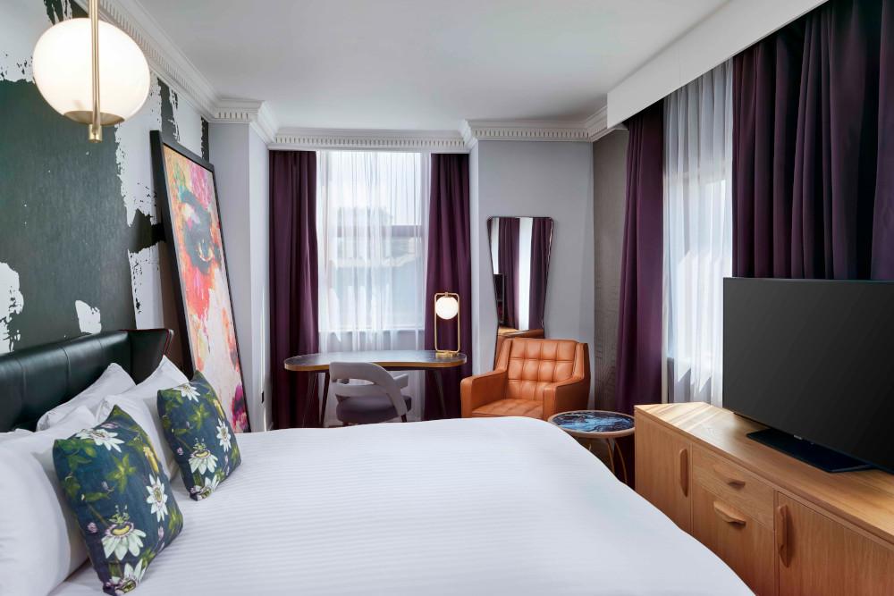 Bedroom at the NYX Holborn