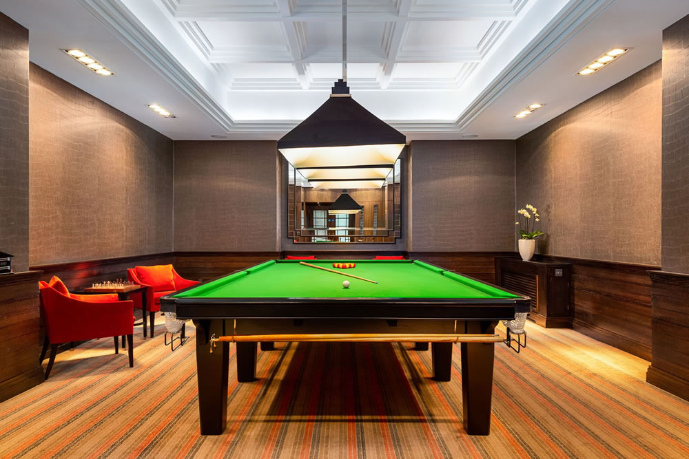 billiards room at Charters Estate