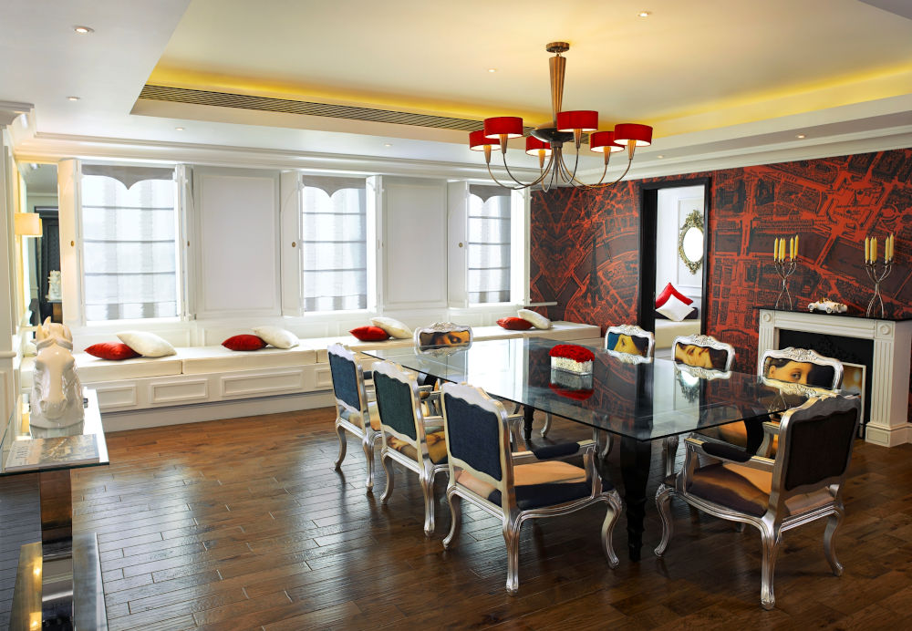 Sofitel Mumai dining room in suite