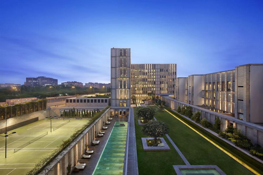 Lodhi hotel courtyard Delhi