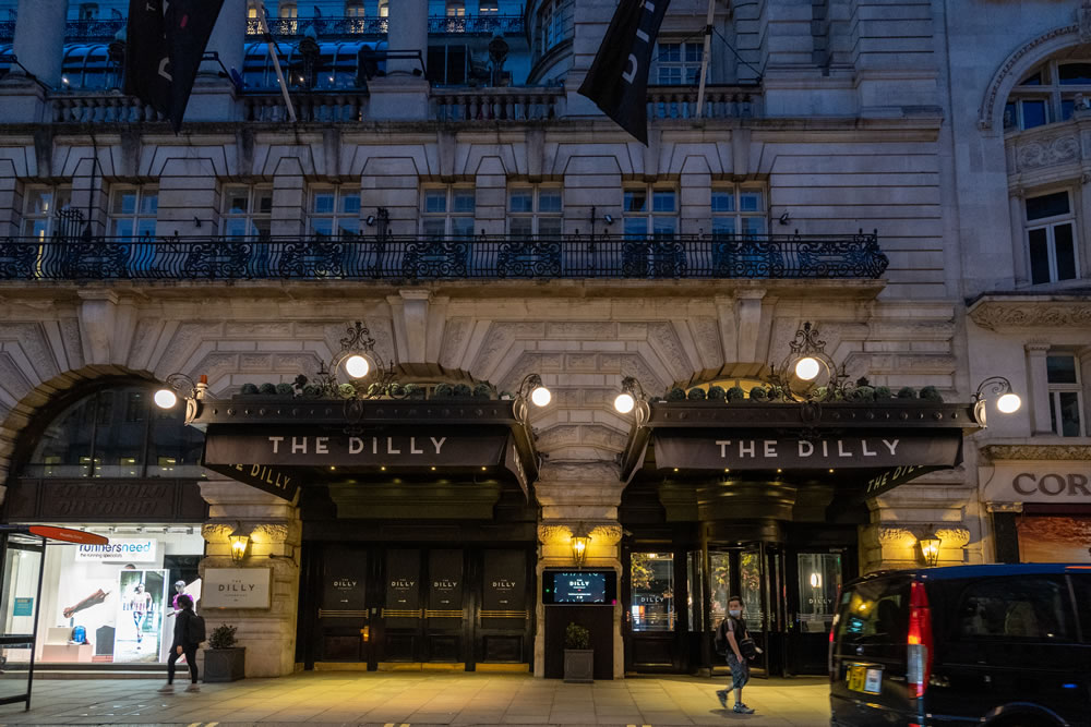 The Dilly, Piccadilly exterior