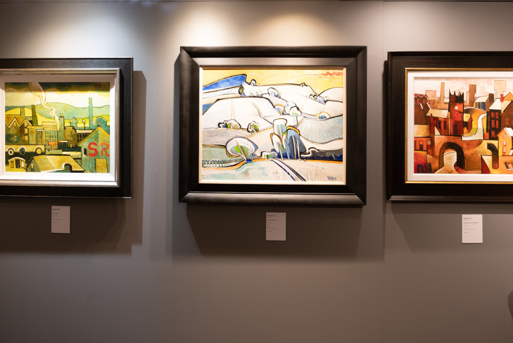 Geoffrey Key's art exhibited at Collect Art in Lymm