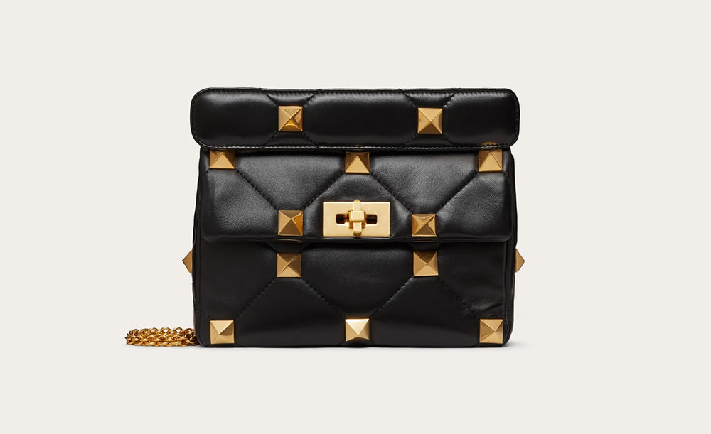 Medium Roman Stud 'the shoulder bag' in nappa, with chain
