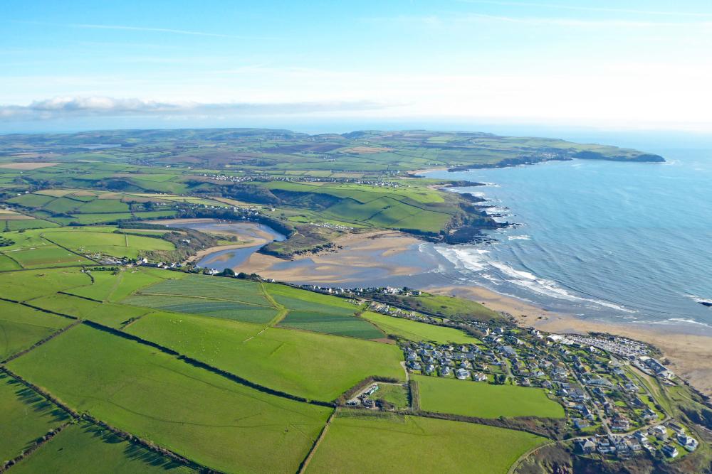 Aerial view of Devon