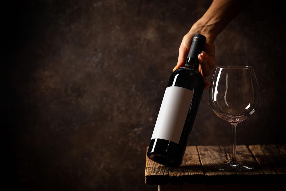 bottle of fine wine