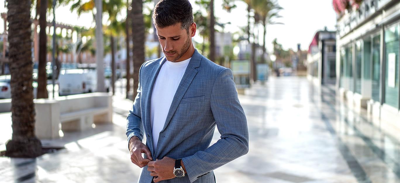 man wearing designer suit