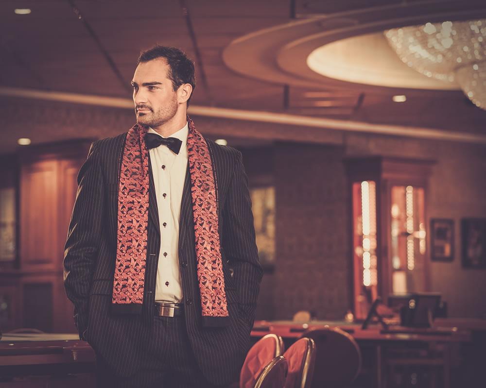 stylish man at the casino