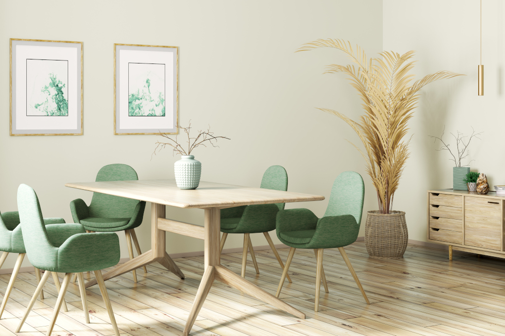 Interior design of modern dining room