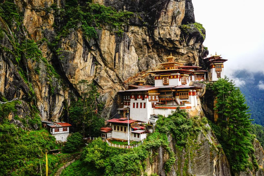 Paro Taktsang (Tiger Nest) in Upper Paro Valley Bhutan