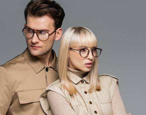 models wearing glasses