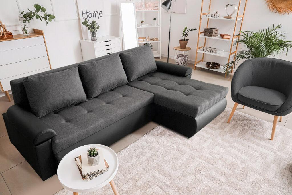 corner sofa in living room