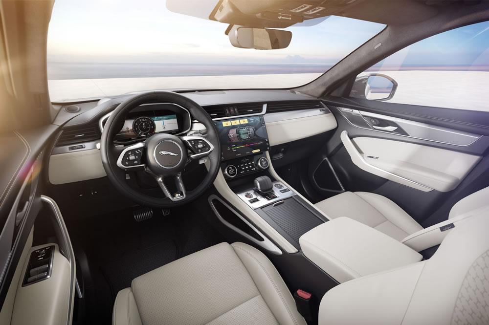 The Jaguar F-PACE interior