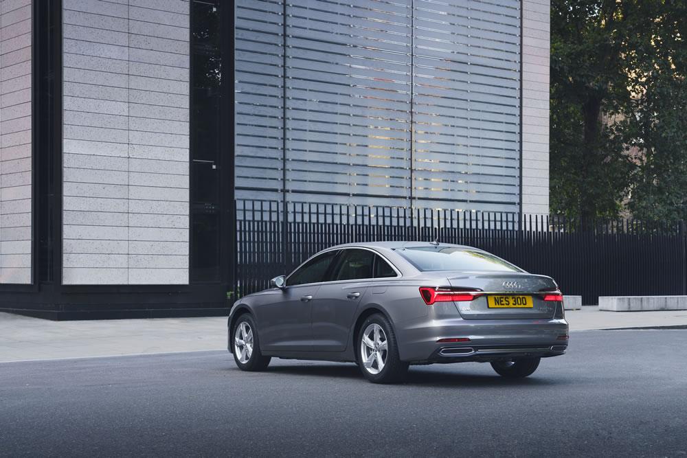 Audi A6 Saloon E-Hybrid rear view