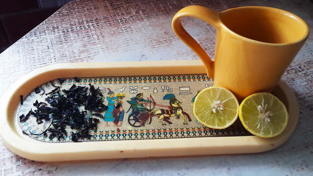À la agar tea