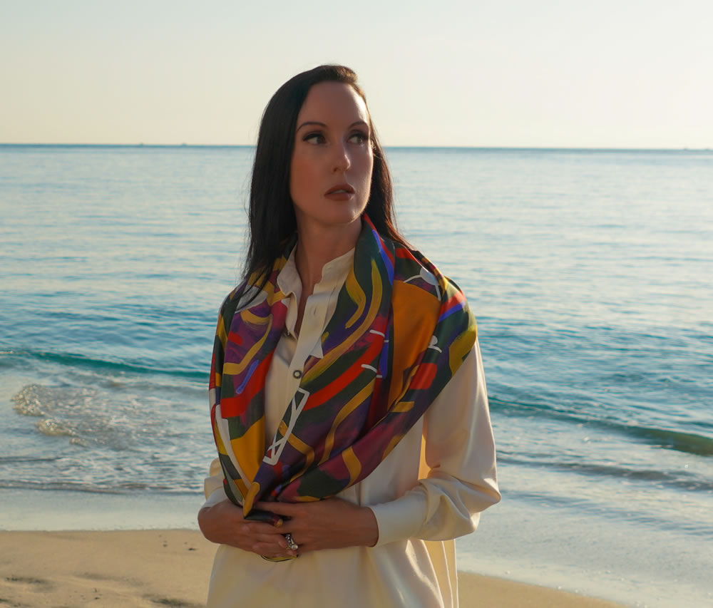 Lauren Ross Designs Cryptography scarf