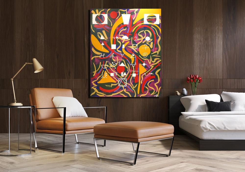Lauren Ross Designs art on wall