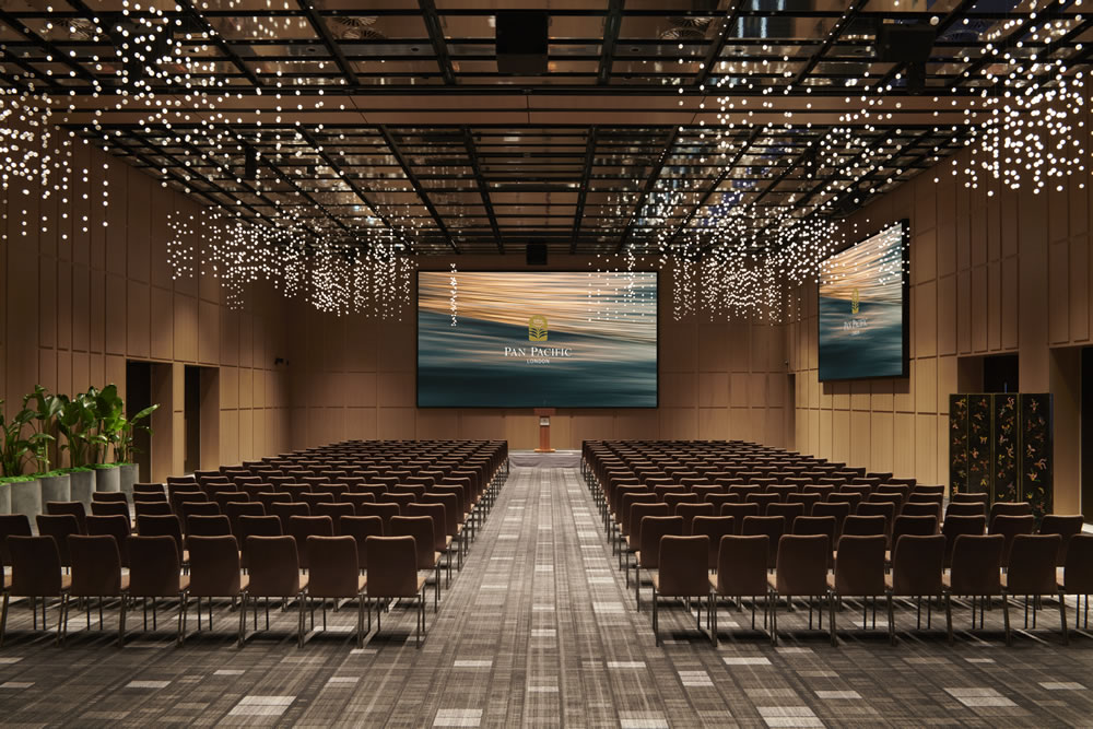 The extensive 464sqm smart Pacific Ballroom