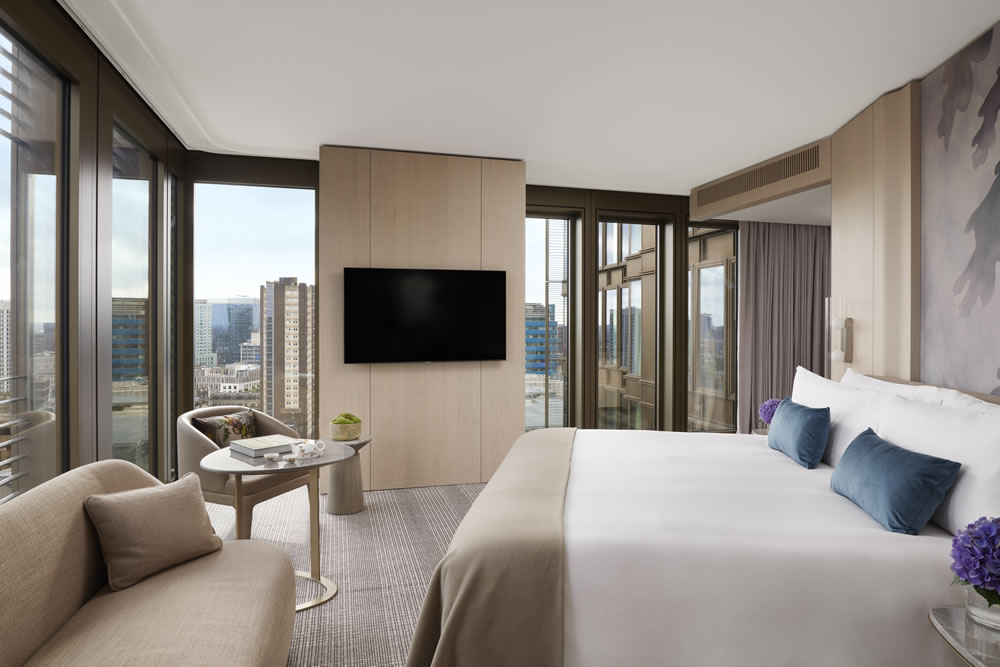 guest room at Pan Pacific London