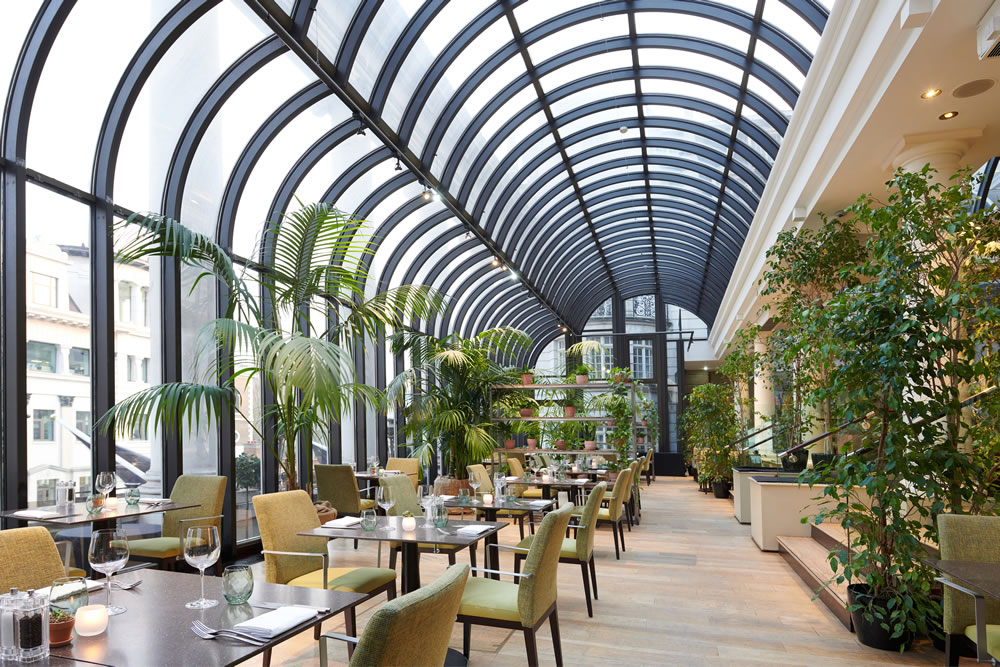 the terrace at the Dilly London