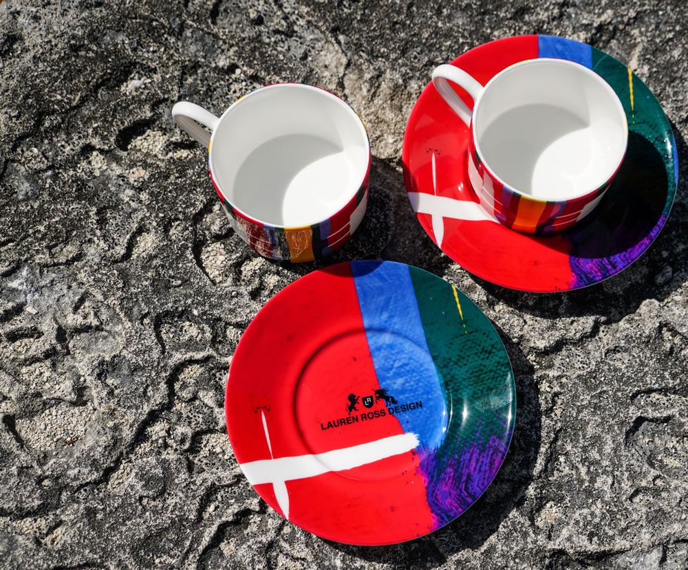 Lauren Ross Designs plates and cups